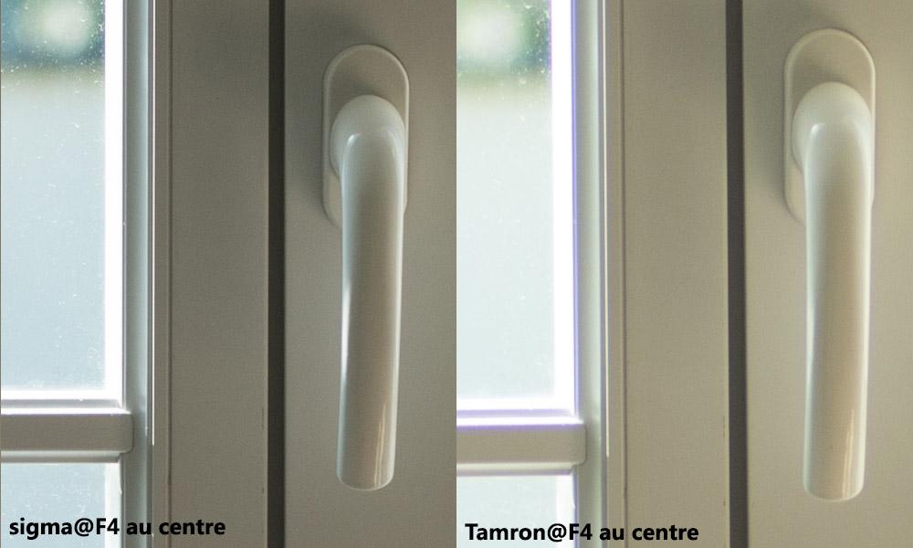 Sigma Tamron F4 centre