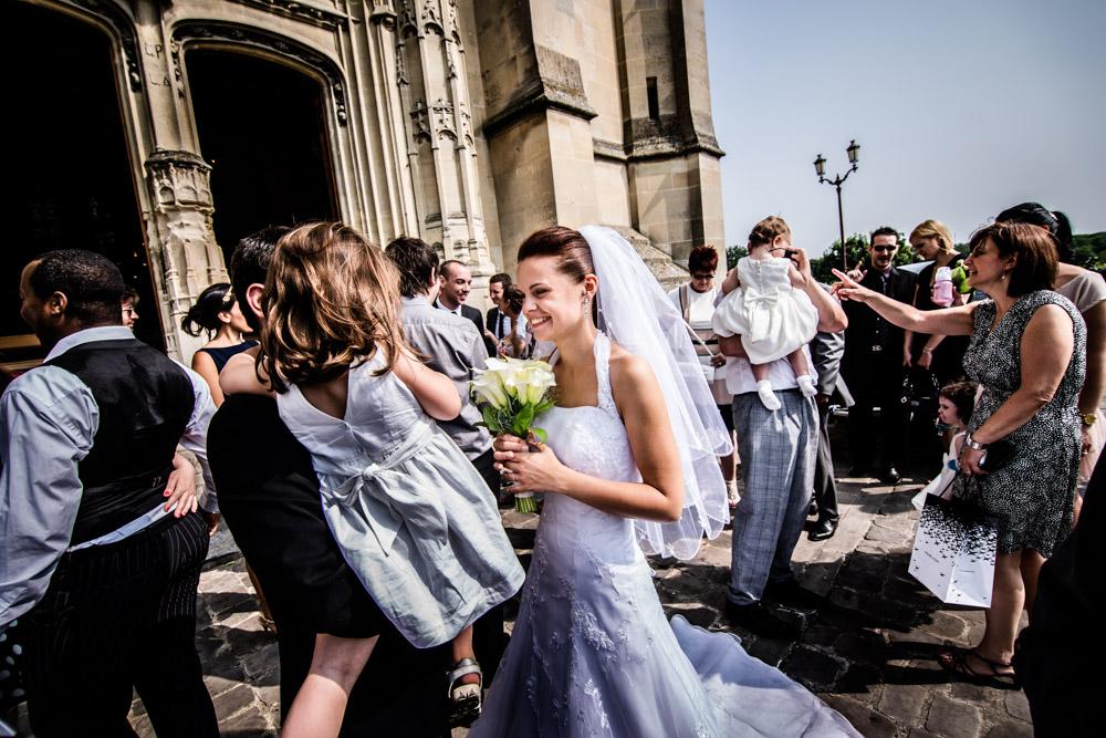 Mariage sortie d'église