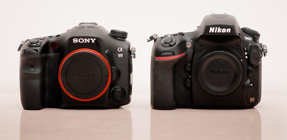 Sony Alpha A99 & Nikon D800