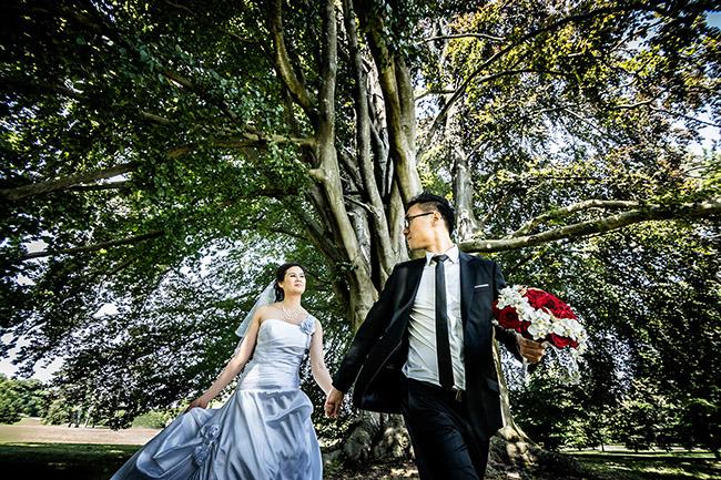 séance photo de couple parc naturel de rentilly