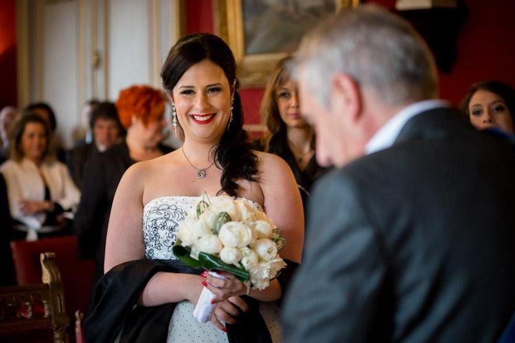 cérémonie civile, mariée