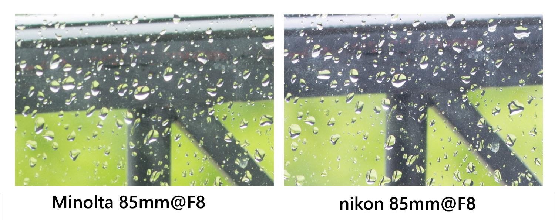 Comparatif qualité d'image entre le minolta 85mm F1.4 RS et le nikon AF-S 85mm F1.8 @ F8