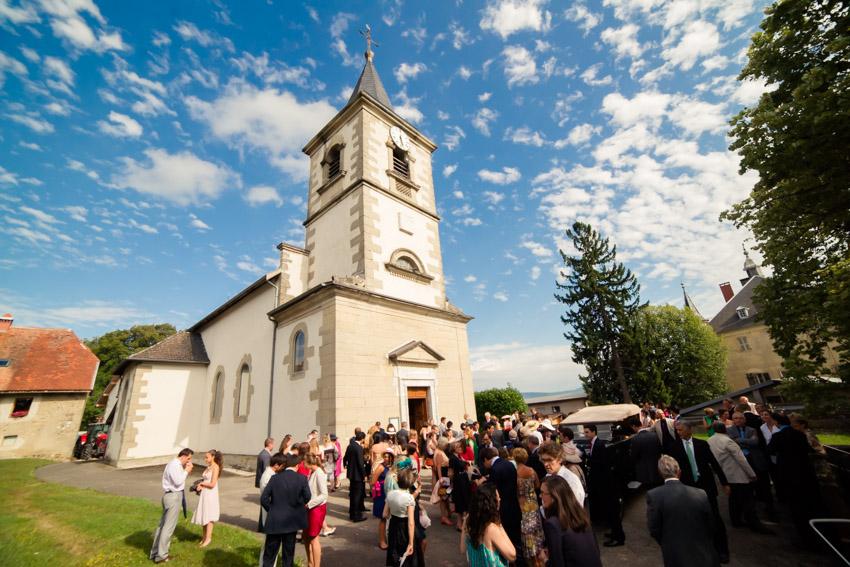 Cérémonie religieuse à l'église de Marlioz