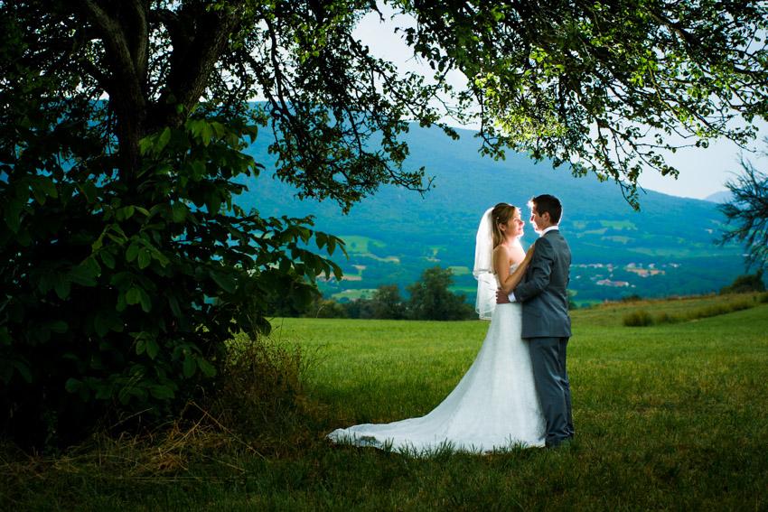 Photo romantique sur les hauteurs de Marlioz