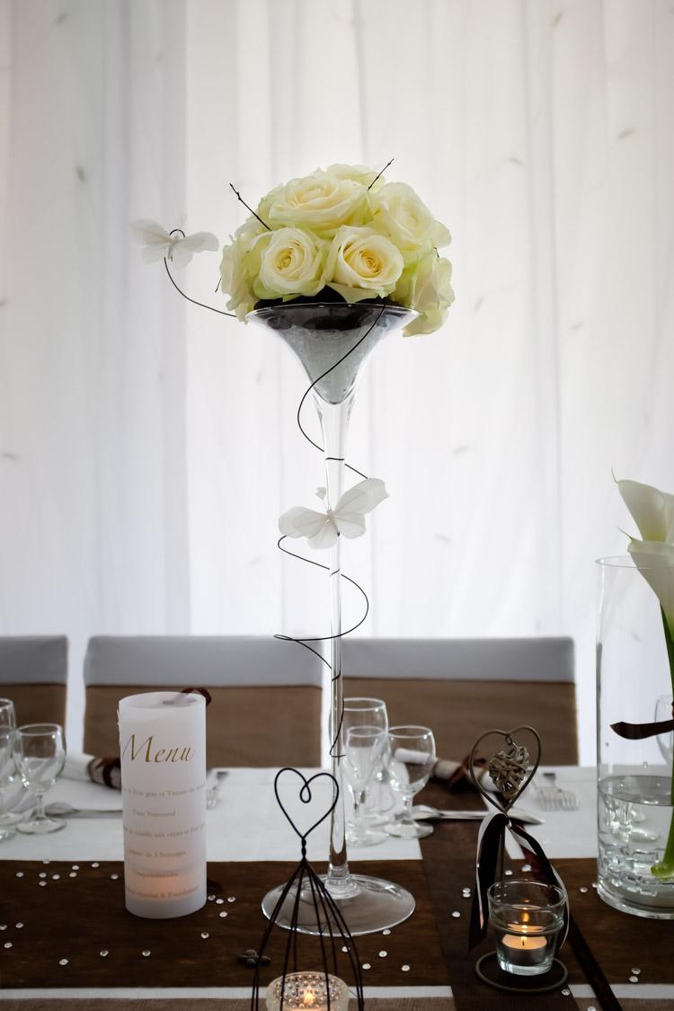 bouquet de fleur centre de table de mariage