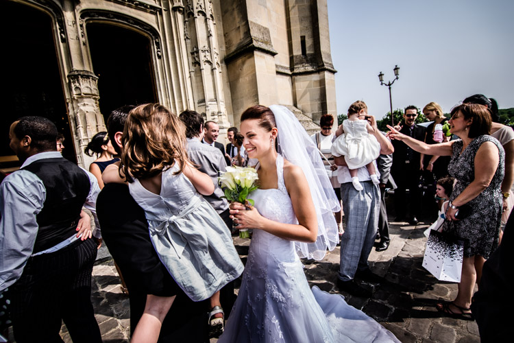 félicitations des invités à la mariée