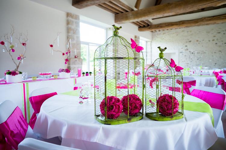 cage à fleurs pour la déco de mariage