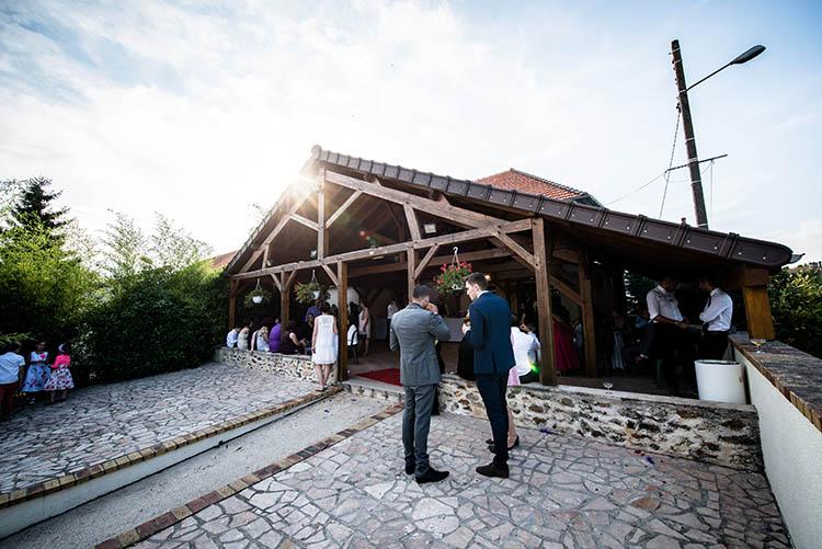 entrée de la salle de mariage