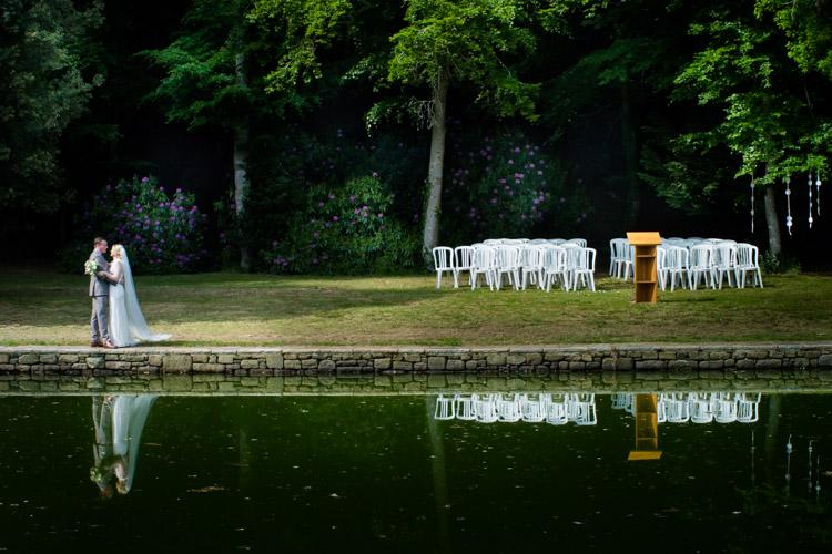 séance photo devant le bassin de l'orangerie de Lanniron