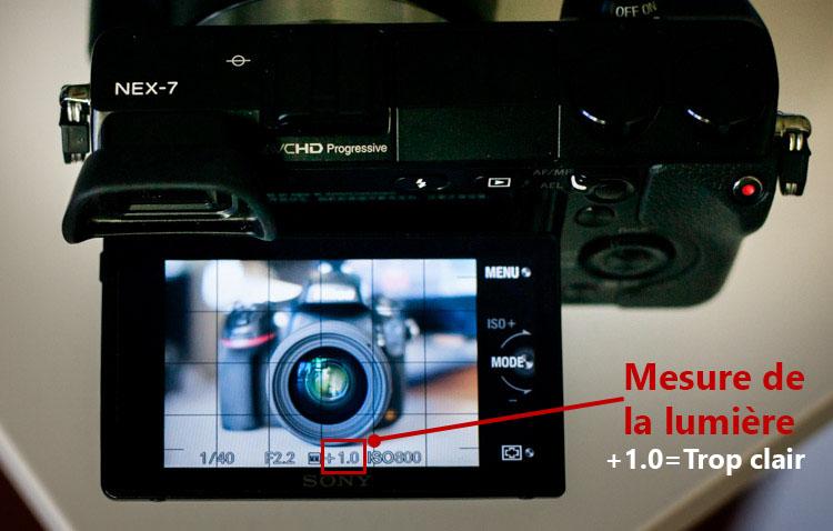 écran orientable du Sony NEX 7