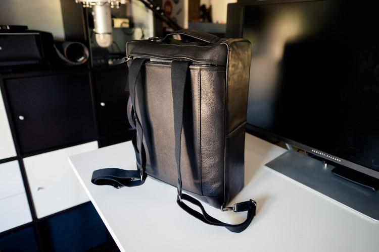 sac cuir en mode sac à dos
