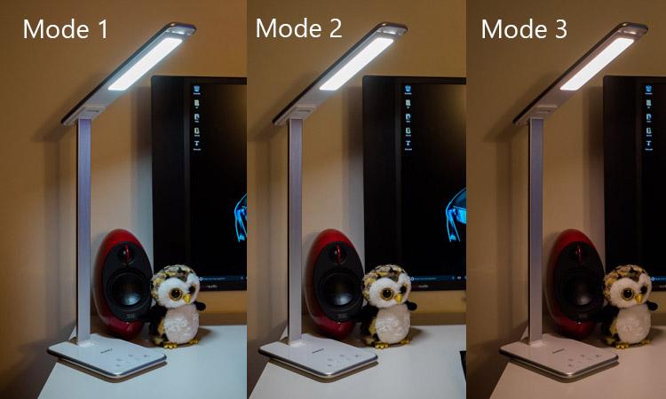 les différents modes proposent une température de couleur en fonction de la journée