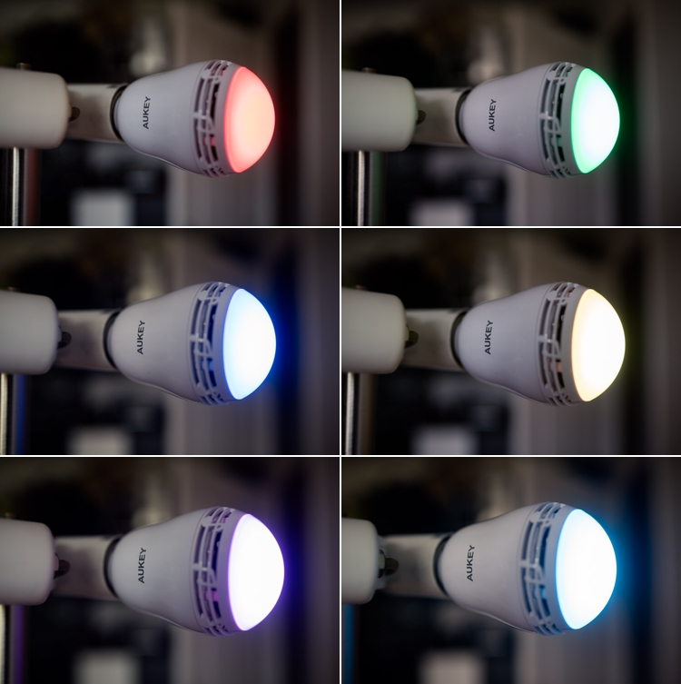 jeux de 6 couleurs RVB