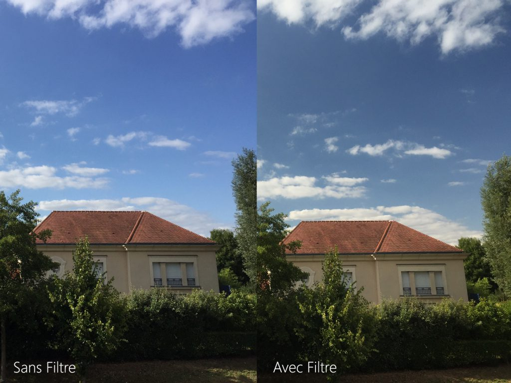image comparative avant après installation du filtre