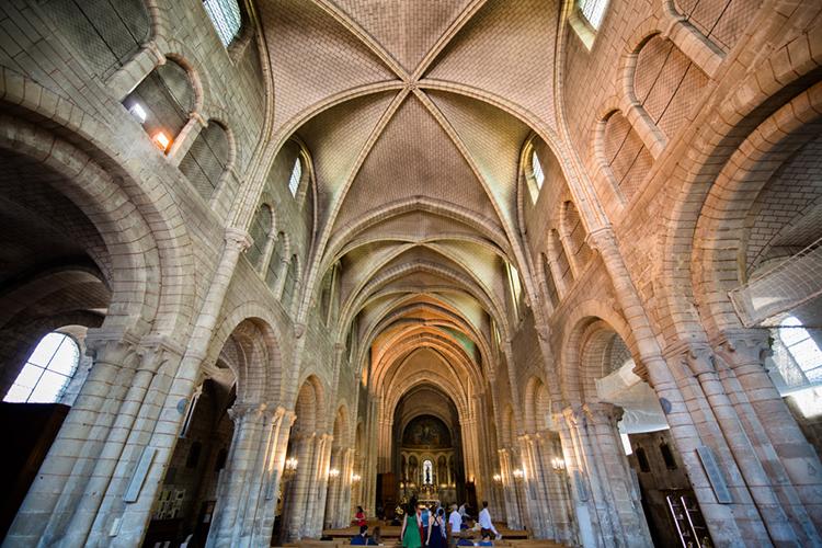 vue du plafond de la basilique