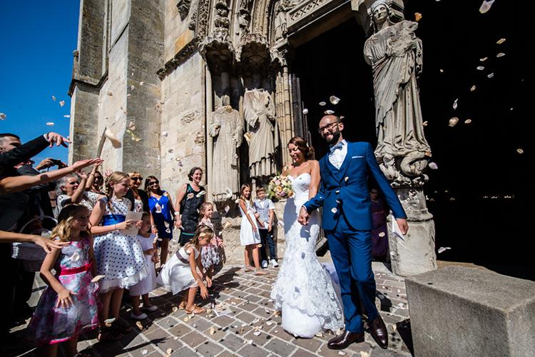 sortie des mariés de la basilique