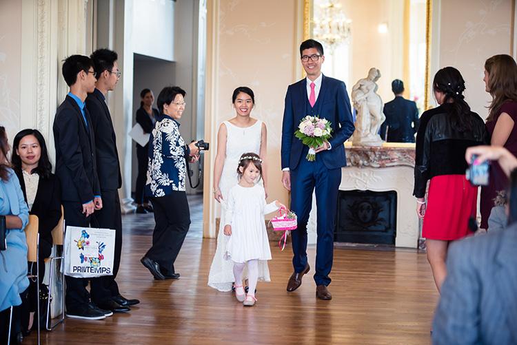 arrivée des mariés dans la salle de mariage civile d'épinay sur seine