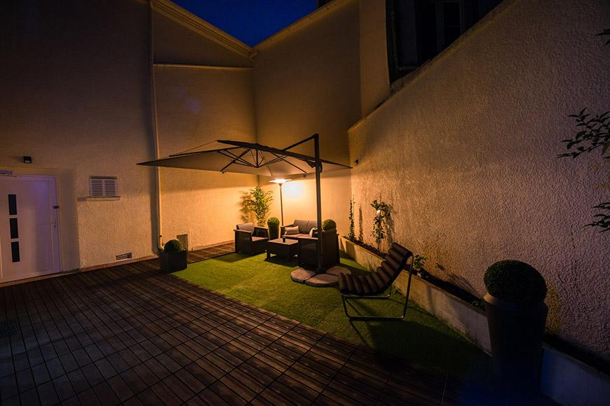 terrasse utilisable en soirée