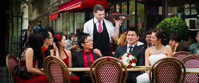 Mariage Cafe Parisien Champ de Mars